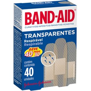 CURATIVO-BAND-AID-TRANSP-40UN-PG30U
