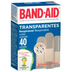 CURATIVO-BAND-AID-TRANSP-40UN-CX