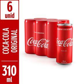 Refrigerante Coca-Cola Sabor Original 310ml com 6 Unidades Leve Mais Pague Menos