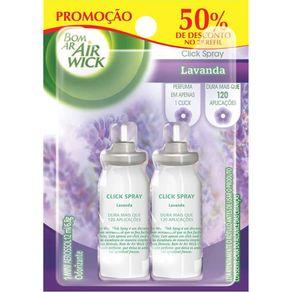 Desodorizador-Refil-Bom-Ar-Air-Wick-Click-Spray-Lavanda-12ml-Embalagem-Promocional-com-2-Unidades
