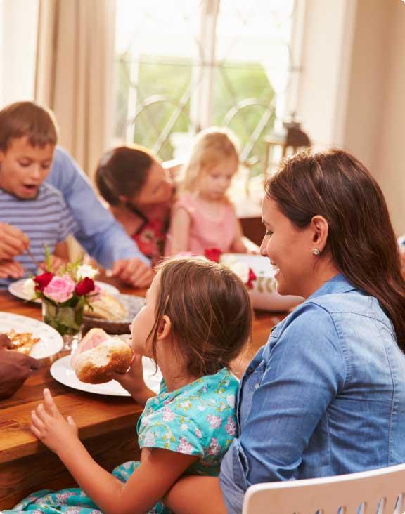 almoço de família