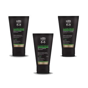 Kit-para-Barba-Barber-Jack-Clean-Fresh-Balm-140ml---Gel-140ml-Gratis-1-Shampoo-140ml