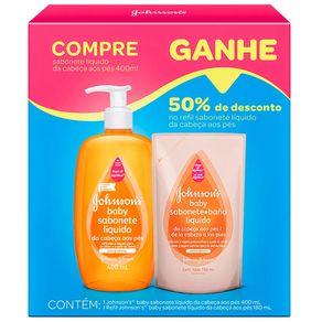 Sabonete-Liquido-Infantil-Johnson-s-Baby-Da-Cabeca-aos-Pes-400ml---50--Desconto-no-Refil-180ml
