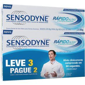 Kit-Creme-Dental-Sensodyne-Rapido-Alivio-50g-Leve-3-Pague-2-Unidades