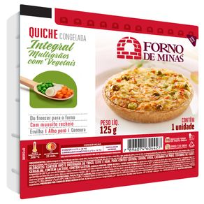 Quiche Forno de Minas Integral Multigrãos com Vegetais Congelado 125 g