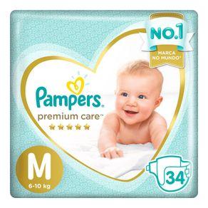 Fraldas Pampers Premium Care M 34 Tiras