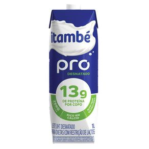 Leite Longa Vida Itambé Pro Zero Lactose Desnatado 1 L