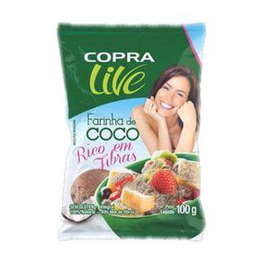 Farinha de Coco Copra Integral sem Glúten Pacote 100 g