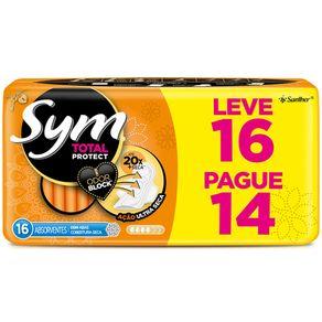 Absorvente-Com-Abas-Sym-Leve-16-Unidades-Pague-14-Unidades-Cobertura-Seca
