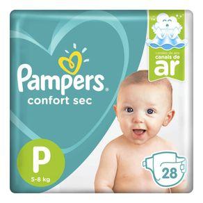 Fralda Pampers Confort Sec P 28 Tiras