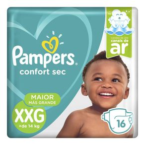 Fralda Pampers Confort Sec XXG 16 Tiras