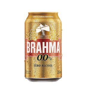 Cerveja Brahma Zero Lata 350ml Embalagem com 12 Unidades