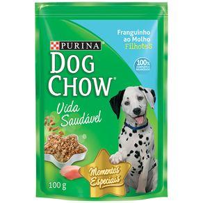 Alimento-para-Caes-Filhotes-Dog-Chow-Vida-Saudavel-Franguinho-ao-Molho-Sache-100-g