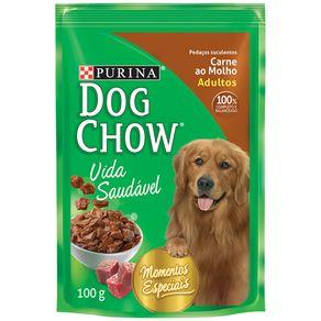 Alimento-para-Caes-Adultos-Dogchow-Vida-Saudavel-Carne-ao-Molho-Sache-100-g