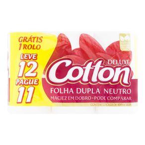 Papel-Higienico-Cotton-Folhal-Dupla-Neutro-30-Metros-Pacote-Leve-12-Pague-11-Unidades