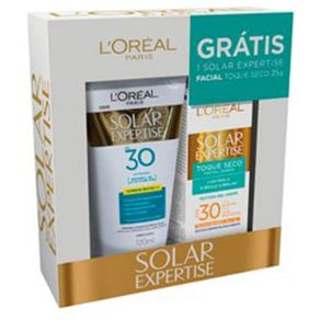 Kit-L-Oreal-Protetor-Solar-FPS30-120ml---Facial-Toque-Seco-FPS30-25g