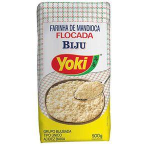 Farinha-de-Mandioca-Yoki-Biju-Flocada-Pacote-500-g
