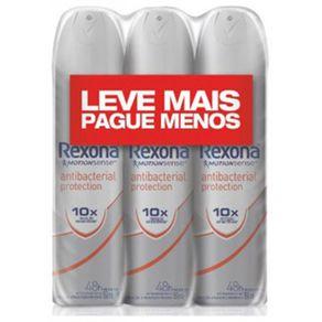 Kit-Desodorante-Antitranspirante-Aerossol-Rexona-Fem-Antibacteriano-150ml-com-3-Unidades
