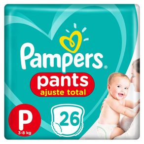 Fralda Pampers Pants Ajuste Total P 26 Tiras