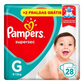 Fraldas Pampers Supersec G 28 Tiras