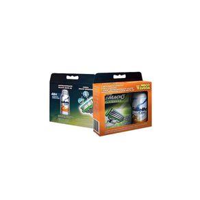 Carga-Gillete-Mach-3-Sensitive-4-Unidades---Desodorante-Aerosol-Gillete-X-Dry-150-ml