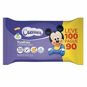 Toalha-Umedecida-Cremer-Disney-Baby-Embalagem-Promocional-100-unidades