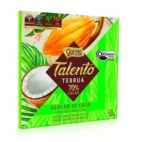 Chocolate-Amargo-Talento-Terrua-com-Acucar-de-Coco-70--Cacau-Organico-50g