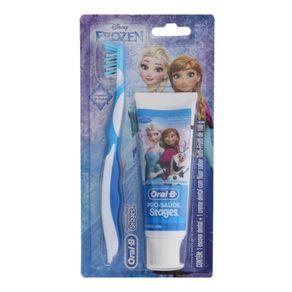 Kit-Infantil-Oral-B-Stages-Creme-Dental-Frozen-75ml---Escova-Dental-Frozen