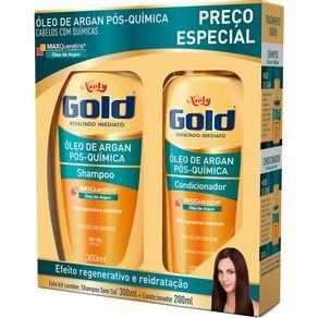Kit-Niely-Gold-Shampoo-300ml---Condicionador-200ml-Oleo-de-Argan-Pos-Quimica