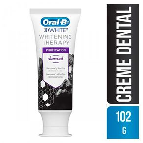 Creme-Dental-Oral-B-3D-White-Therapy-Purification-Charcoal-102g