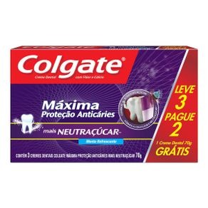 5853fed504fcc5279bf33d023253da60_creme-dental-colgate-maxima-protecao-anticaries-mais-neutracucar-70g-promo-leve-3-pague-2_lett_1