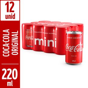 Refrigerante-Coca-Cola-Sabor-Original-Mini-220ml-Pack-com-12-Unidades