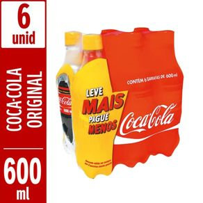Refrigerante-Coca-Cola-Sabor-Original-600ml-Pack-com-6-Unidades