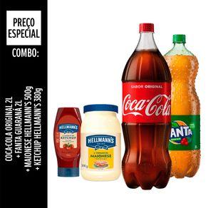 Combo-Especial-Coca-Cola-Unilever-Original-2L-Fanta-Guarana-2L---Ketchup-Hellmann-s-Tradicional-380g---Maionese-500g
