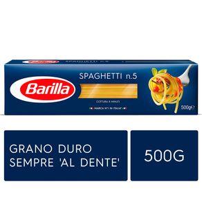 Massa-Italiana-Barilla-Longa-Spaghetti-Nº5-Caixa-500-g