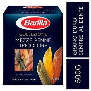 Massa-de-Grano-Duro-Italiano-Collezione-Mezze-Penne-Tricolore-Barilla-Collez-Caixa-500-g