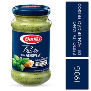 Molho-Pesto-Italiano-Barilla-Alla-Genovese-com-Manjericao-Fresco190g