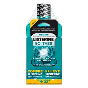 Kit-Listerine-Antessepitco-Bucal-Cool-Mint-500ml---Tablete-Mastigavel-Go-Tabs-4-Unidades