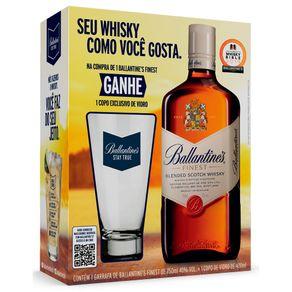 Kit-Whisky-Ballantines-Finest-750ml---Copo-400ml