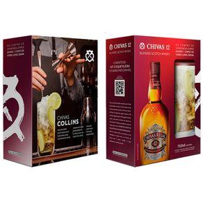 Kit-Whisky-Chivas-12-Anos-750ml---Copo-Long-Drink