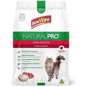 Alimento-Para-Gato-Baw-Waw-Natural-Pro-Gatos-Adultos-Carne-e-Arroz-500g