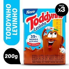 toddynho levinho chocolate 200ml com 3 unidades