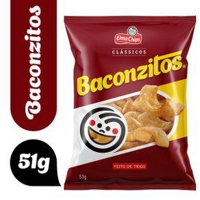 Salgadinho De Trigo Bacon Elma Chips Baconzitos Pacote 51g