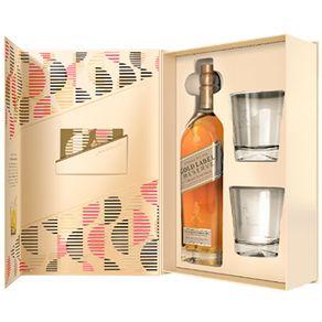 Kit-Johnnie-Walker-Gold-Label-Reserve-Gift-Pack-750ml-com-2-Copos