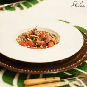 Receita-Carol-Fadel---Risoto-De-Quinoa-Tomatinhos-E-Ervilha-Torta-