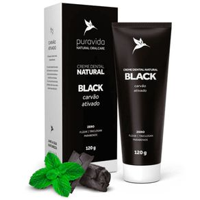 Creme-Dental-Puravida-Natural-Black-Carvao-Ativado-120g