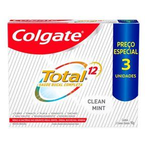 Creme-Dental-Colgate-Total-12-Clean-Mint-3-Unidades-90g-Preco-Especial