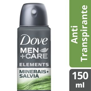 Desodorante Antitranspirante Aerossol Dove Men + Care Minerais + Sálvia 150ml