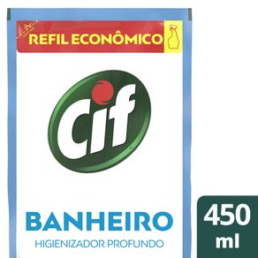 Refil CIF Banheiro Ultra Rápido Sem Cloro 450ml