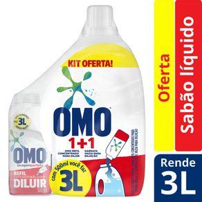 Sabão Líquido Omo Concentrado Lavagem Perfeita Para Diluir 500ml + Recipiente 3L